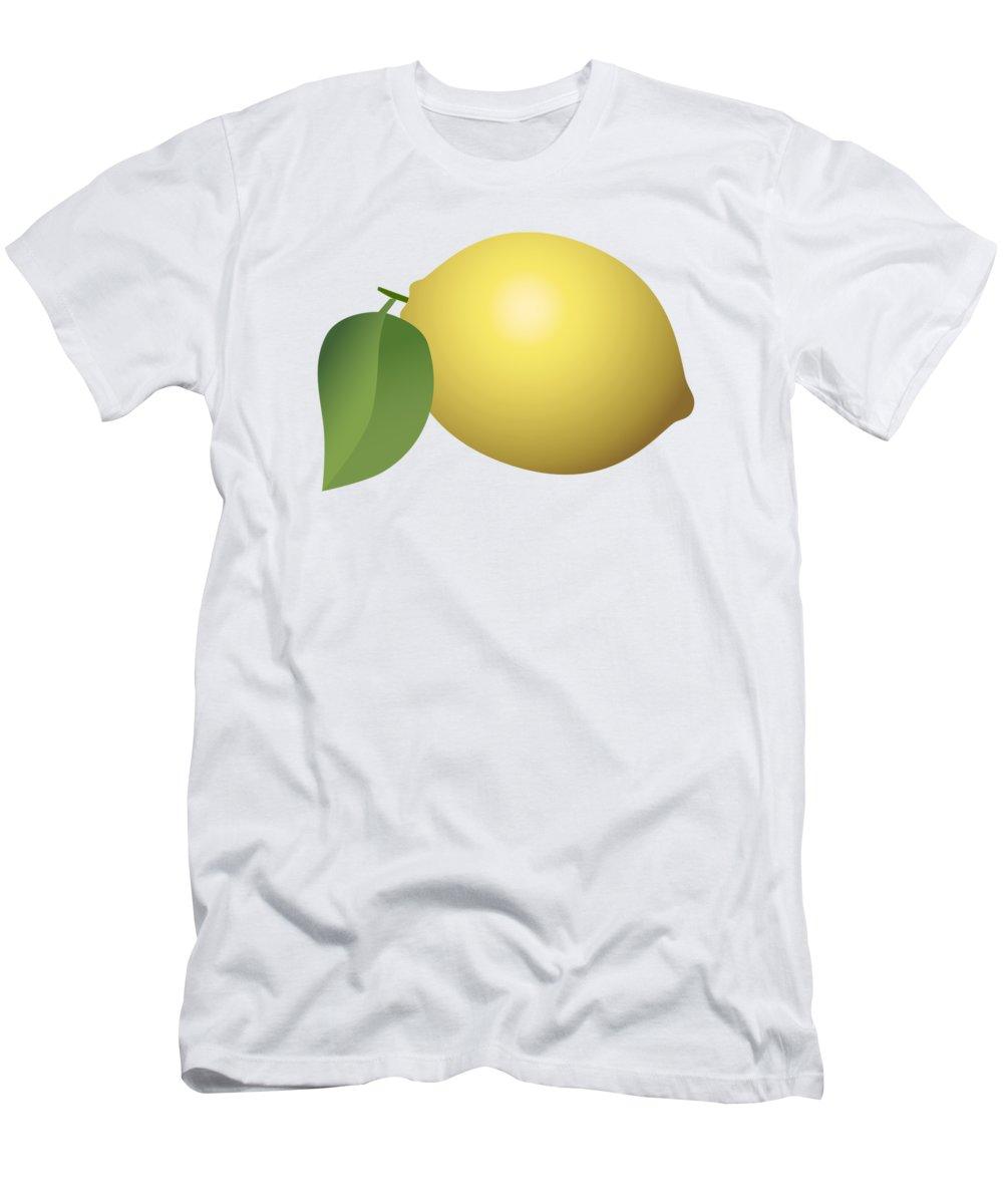 3d Men's T-Shirt (Athletic Fit) featuring the digital art Lemon Fruit by Miroslav Nemecek