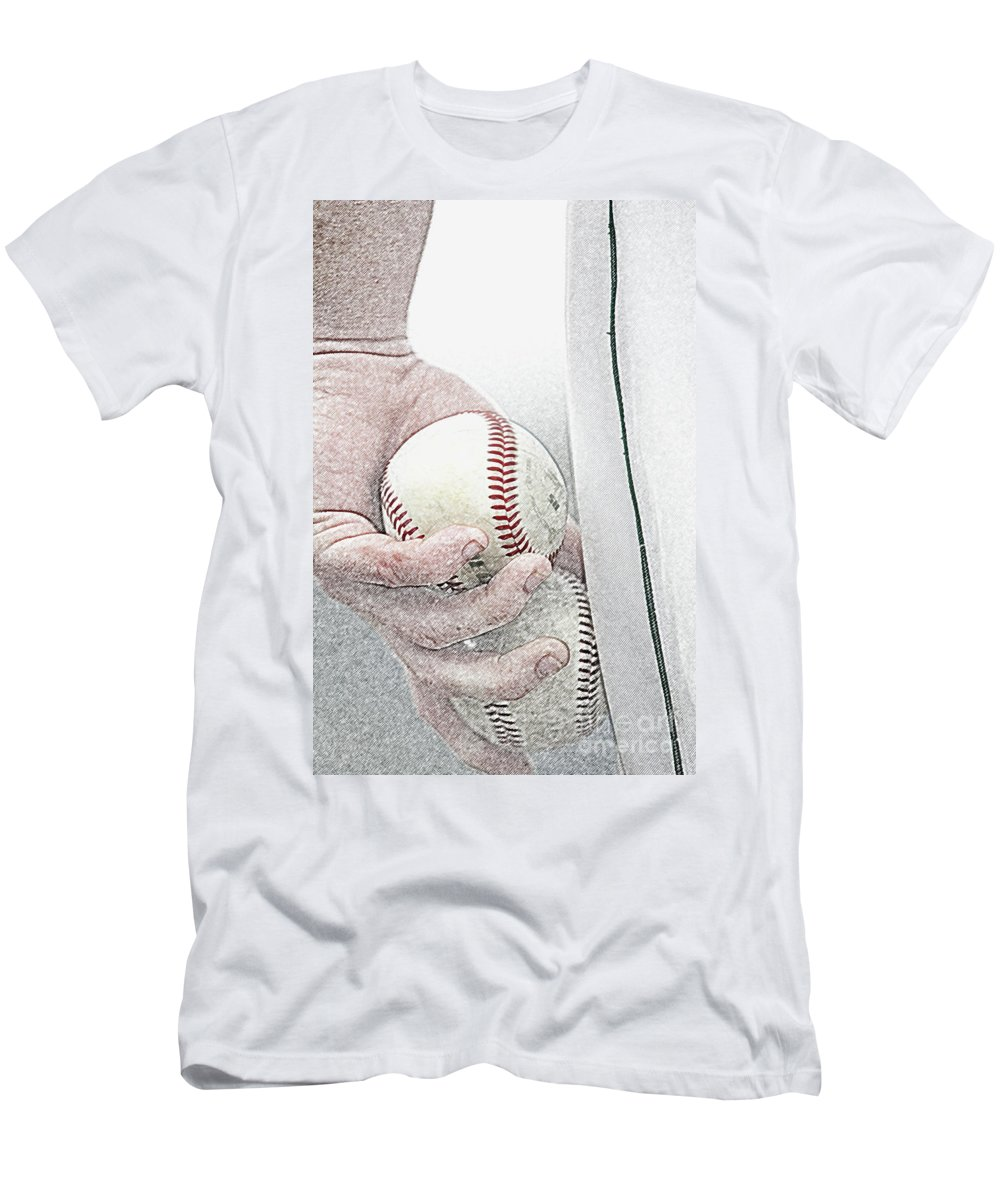 Action Men's T-Shirt (Athletic Fit) featuring the photograph Lets Try Two by Alan Look