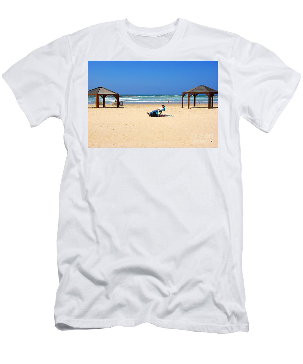 Beach Men's T-Shirt (Athletic Fit) featuring the photograph Life After 60.. by Zal Latzkovich