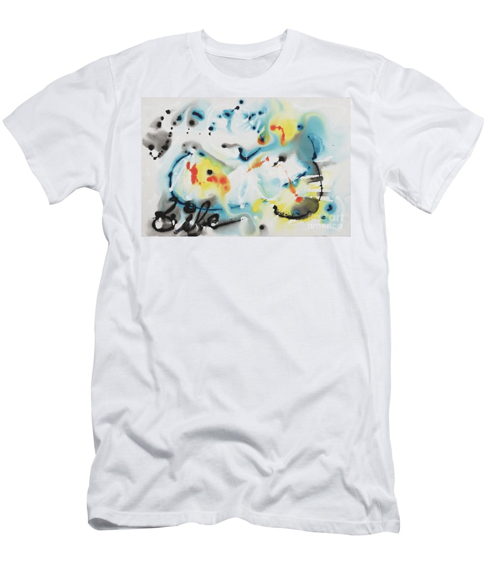 Life T-Shirt featuring the painting Life by Nadine Rippelmeyer