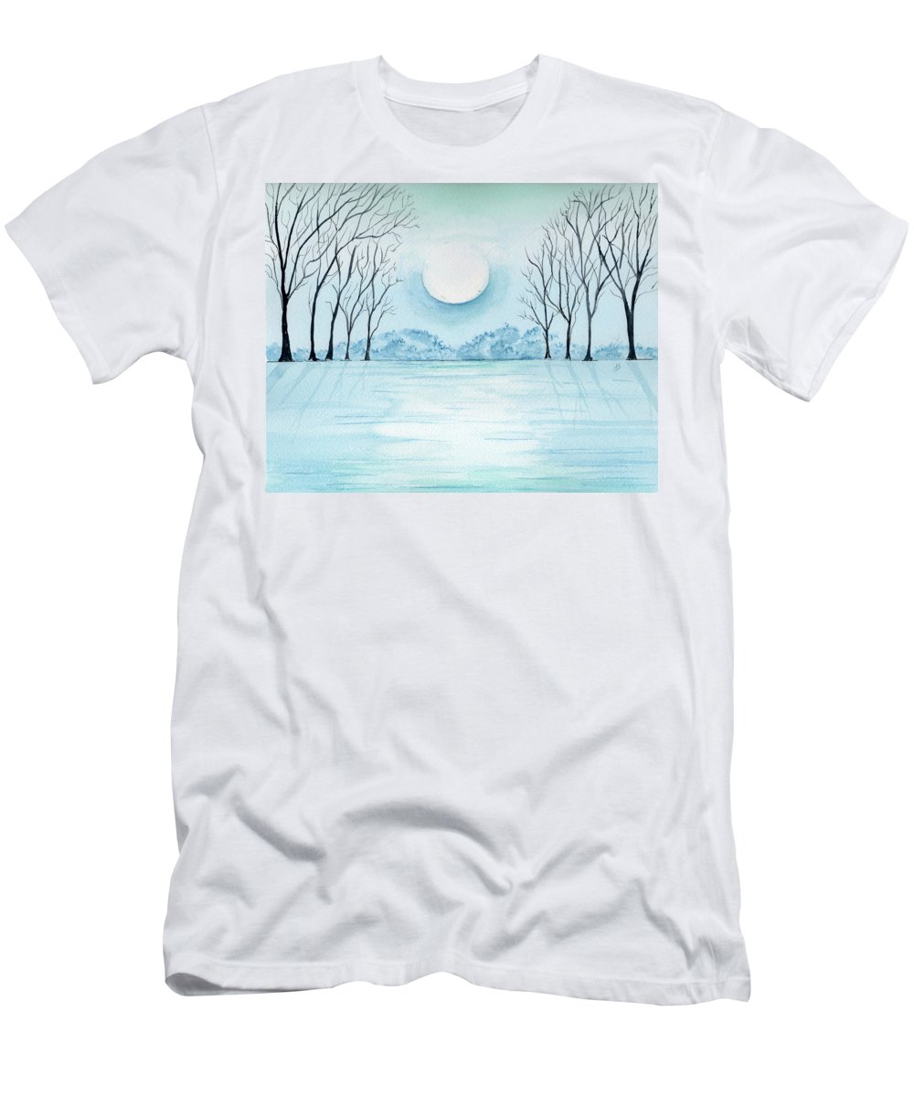 Watercolor Men's T-Shirt (Athletic Fit) featuring the painting Light On The Field by Brenda Owen