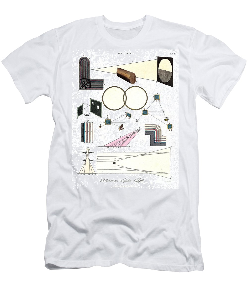 Historic Men's T-Shirt (Athletic Fit) featuring the photograph Light Optics, Reflection & Refraction by Wellcome Images
