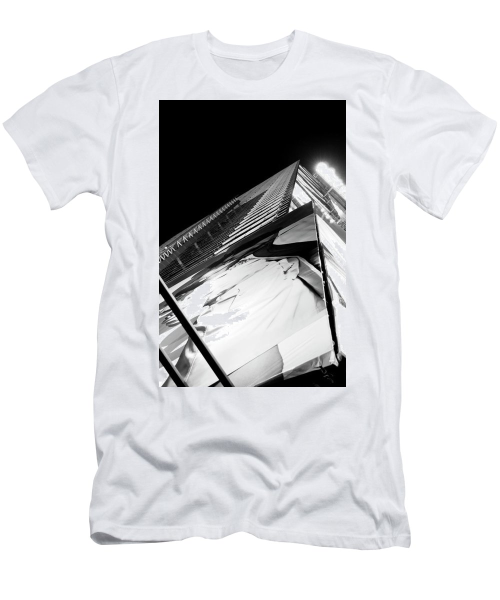 Lights Men's T-Shirt (Athletic Fit) featuring the photograph Lights by Andre Beriault