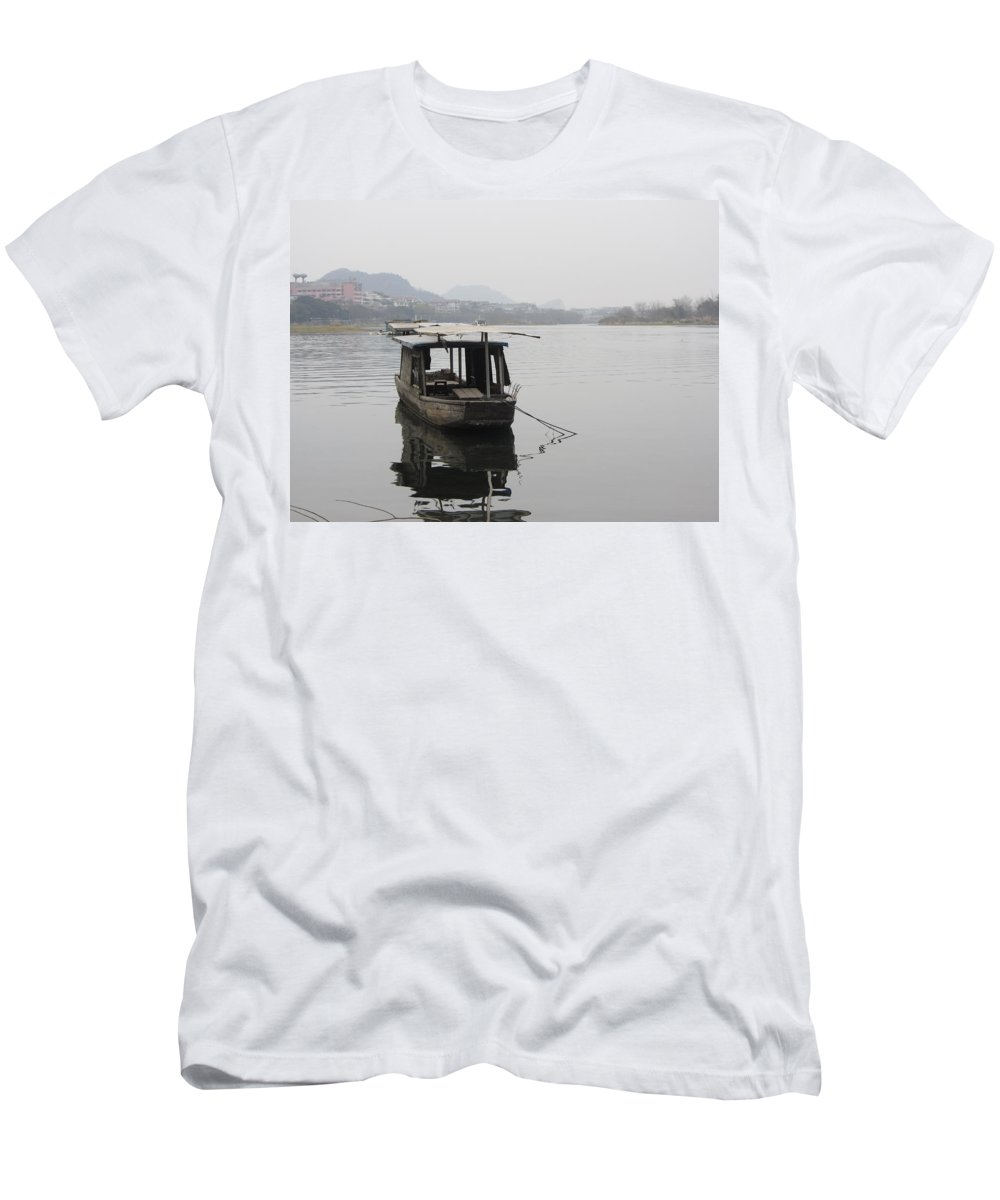 River Men's T-Shirt (Athletic Fit) featuring the photograph Lijiang by Laurent Arseneau