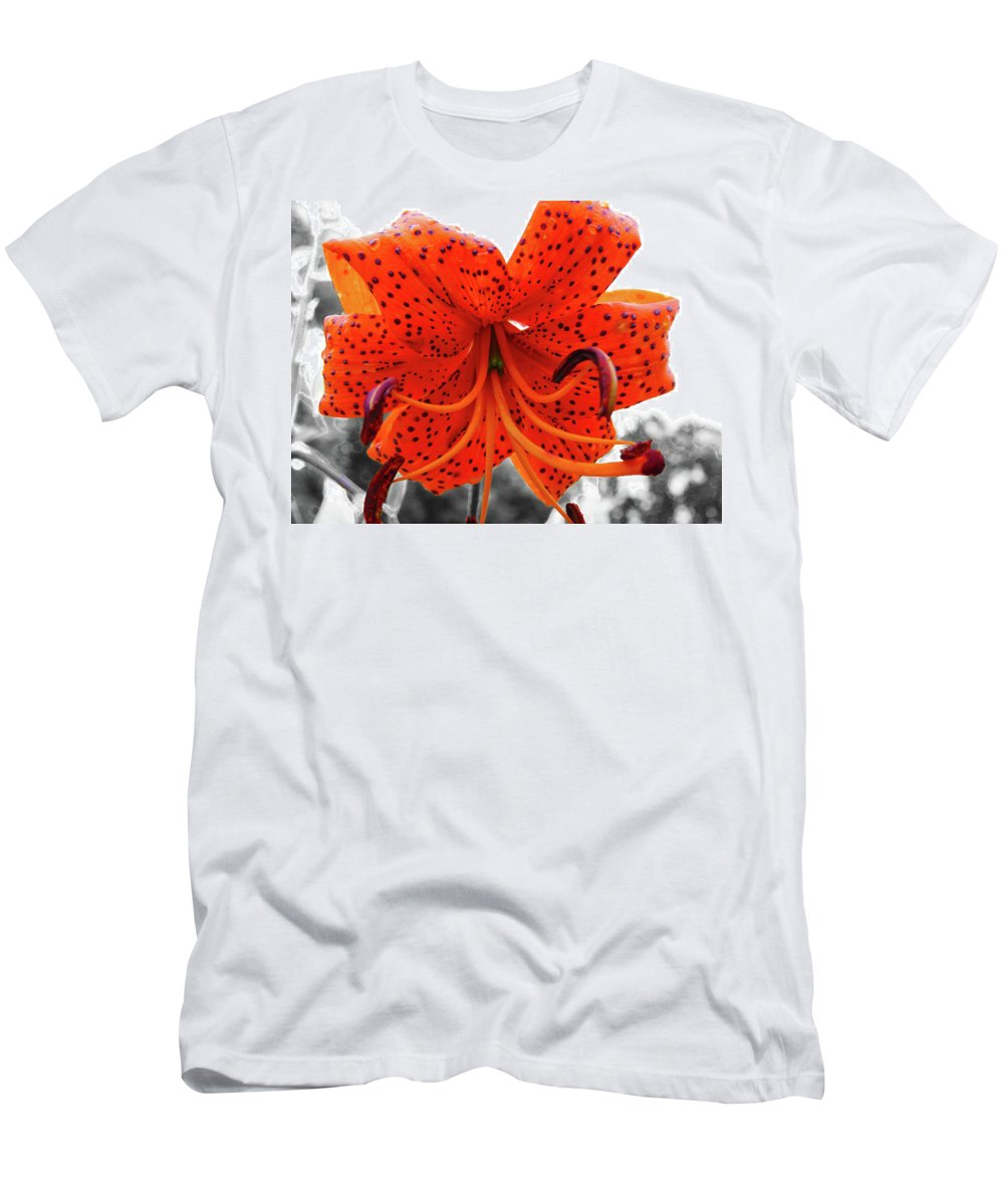 Flower Men's T-Shirt (Athletic Fit) featuring the photograph Lily by James Young