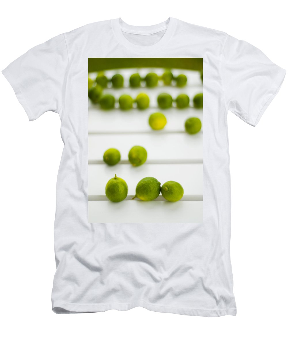 Green Men's T-Shirt (Athletic Fit) featuring the photograph Lime Green by Skip Hunt