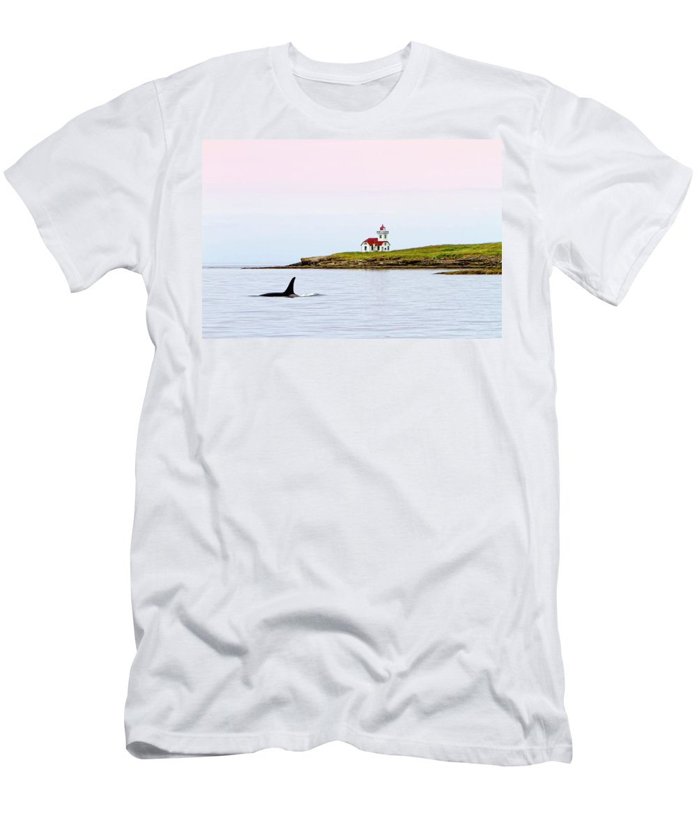 Lime Kiln Men's T-Shirt (Athletic Fit) featuring the digital art Lime Kiln I by Janet Fikar