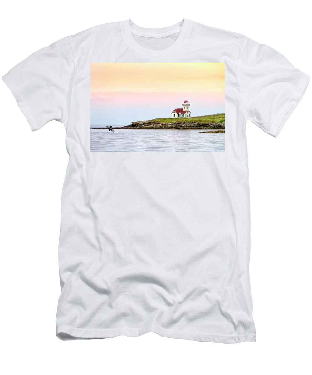 Lime Kiln Men's T-Shirt (Athletic Fit) featuring the digital art Lime Kiln II by Janet Fikar