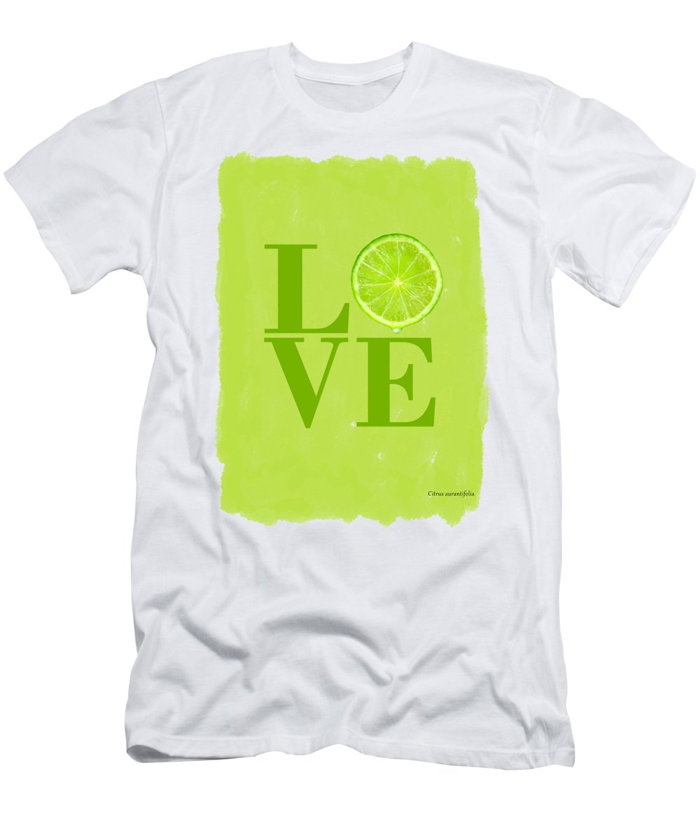 Lime Men's T-Shirt (Athletic Fit) featuring the photograph Lime by Mark Rogan