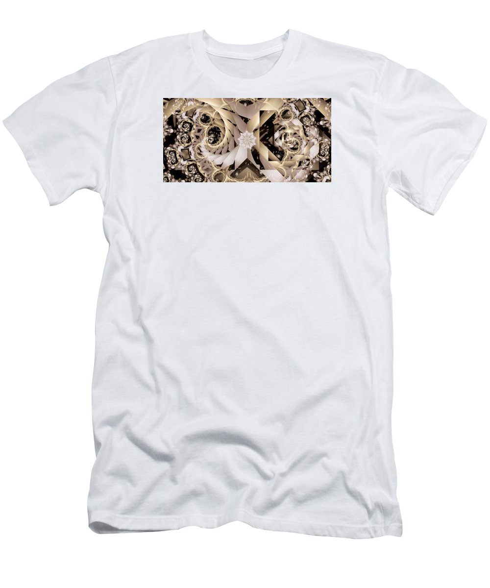 Abstract T-Shirt featuring the digital art Linen and Silk by Ron Bissett
