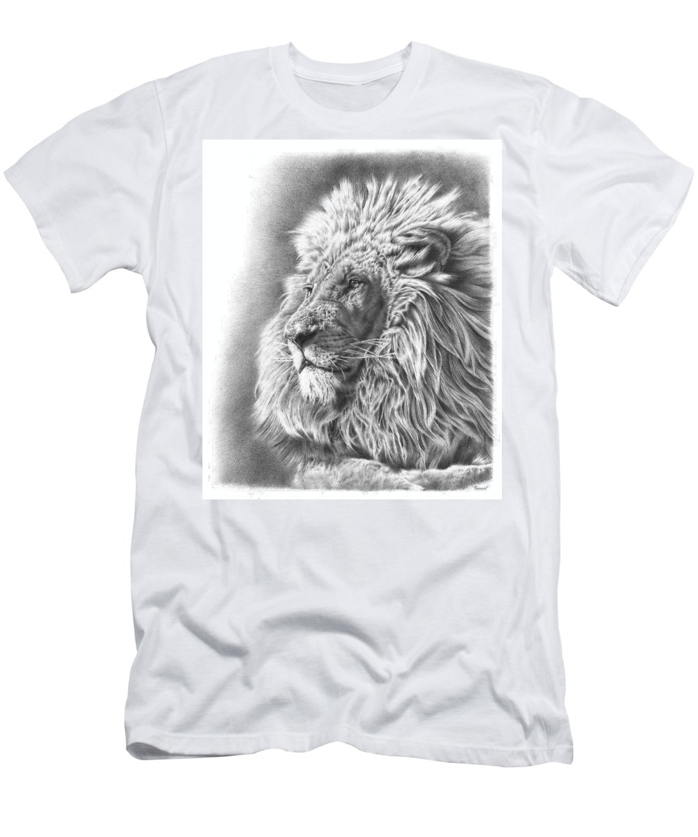Lion Men's T-Shirt (Athletic Fit) featuring the drawing Lion King by Remrov