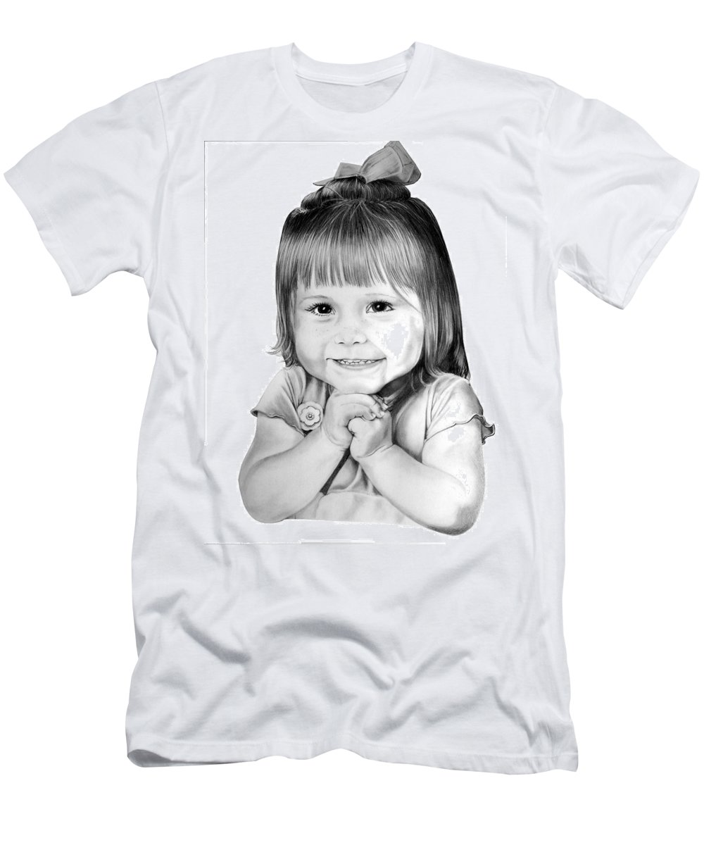 Child Men's T-Shirt (Athletic Fit) featuring the drawing Little Bailey by Murphy Elliott