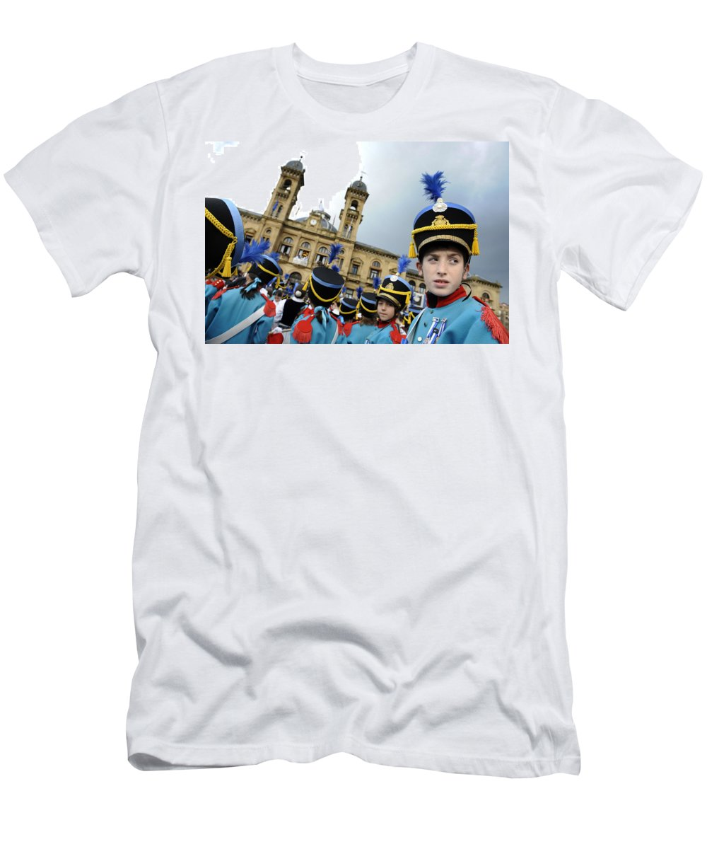 Spain Men's T-Shirt (Athletic Fit) featuring the photograph Little Soldiers Iv by Rafa Rivas