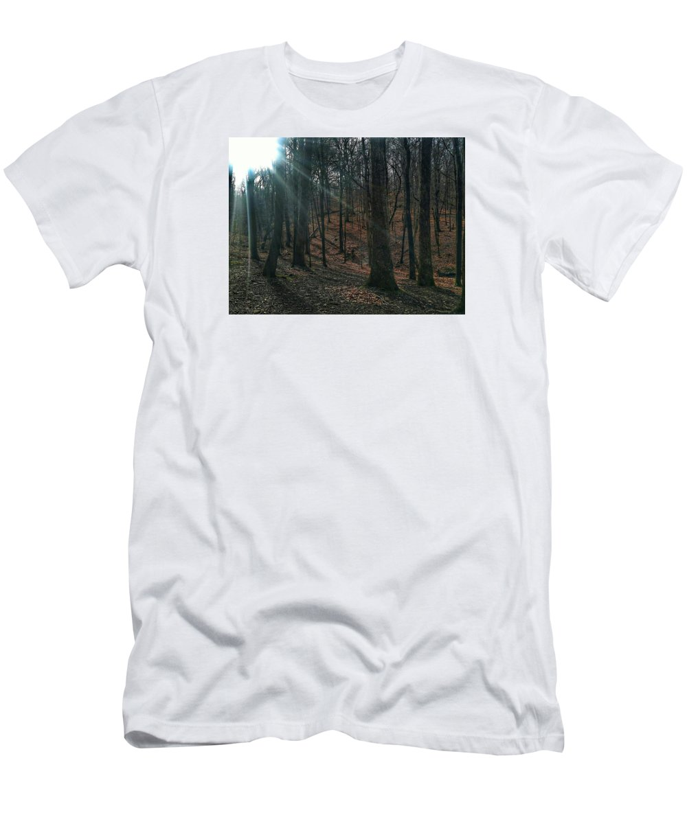 Sun Men's T-Shirt (Athletic Fit) featuring the photograph Live In The Sunshine by Shelley Smith