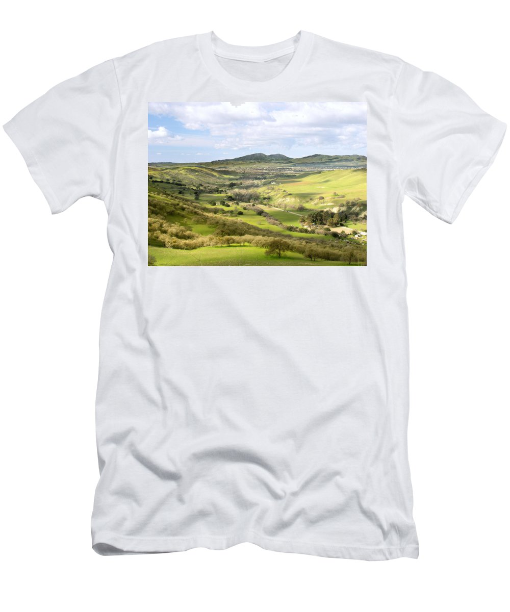 Landscape Men's T-Shirt (Athletic Fit) featuring the photograph Livermore Valley by Karen W Meyer