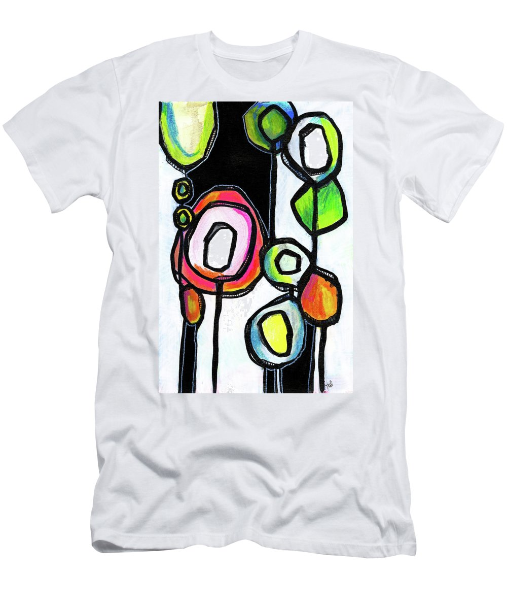 Modern Men's T-Shirt (Athletic Fit) featuring the painting Lollipop Forest by Tonya Doughty