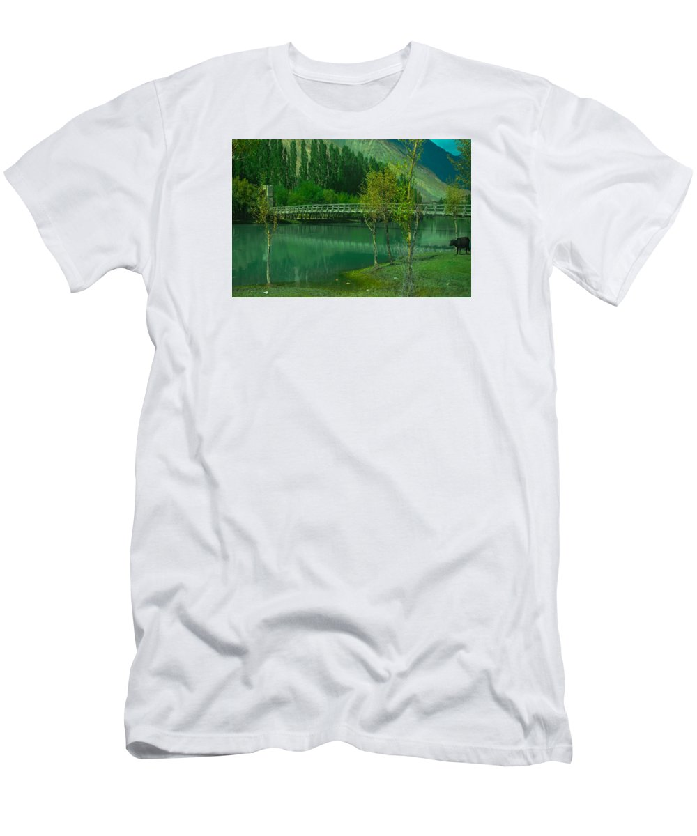 Nature Men's T-Shirt (Athletic Fit) featuring the photograph Lonely Buffalo by Waqas Javed