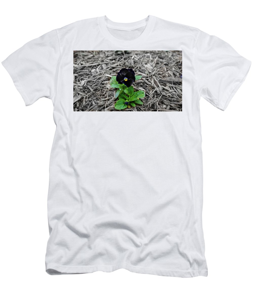 Flower Men's T-Shirt (Athletic Fit) featuring the photograph Loner by Mecoes Florance