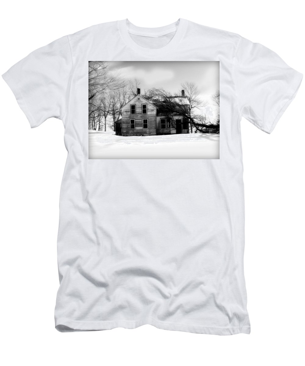 Black And White Men's T-Shirt (Athletic Fit) featuring the photograph Long Gone by Julie Hamilton