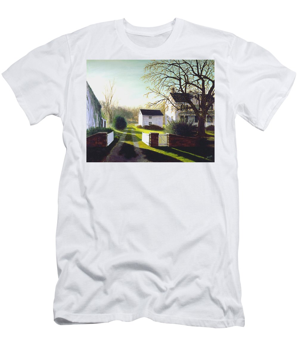 Men's T-Shirt (Athletic Fit) featuring the painting Long Shadows by Tony Scarmato