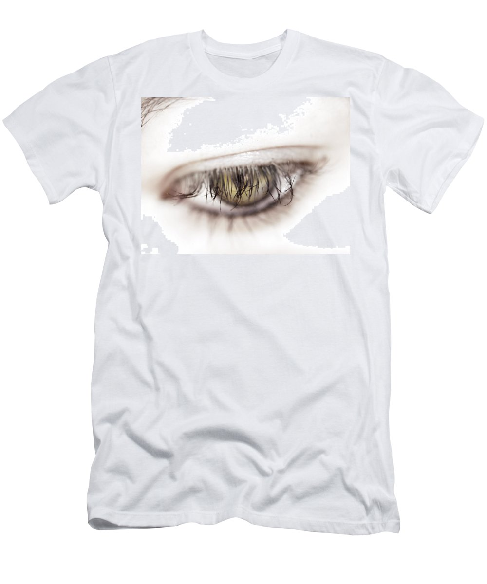 Eye Men's T-Shirt (Athletic Fit) featuring the photograph Look Away by Kelly Jade King