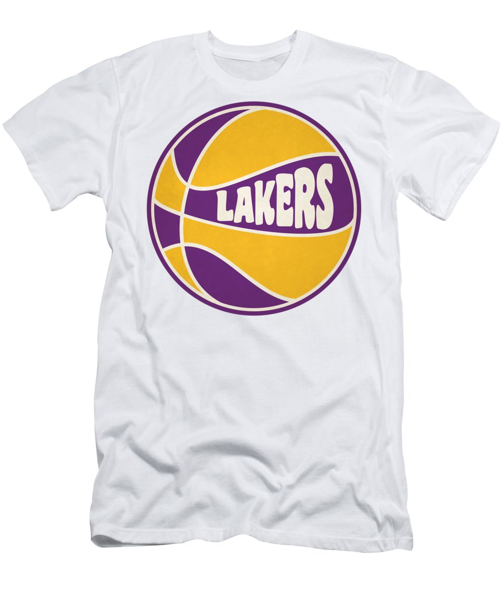 Lakers Men's T-Shirt (Athletic Fit) featuring the photograph Los Angeles Lakers Retro Shirt by Joe Hamilton