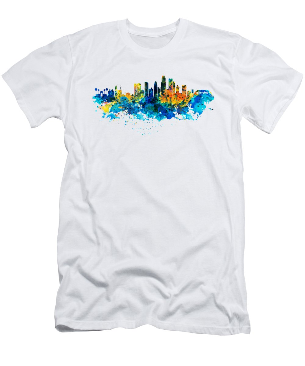 Los Angeles Skyline Slim Fit T-Shirts