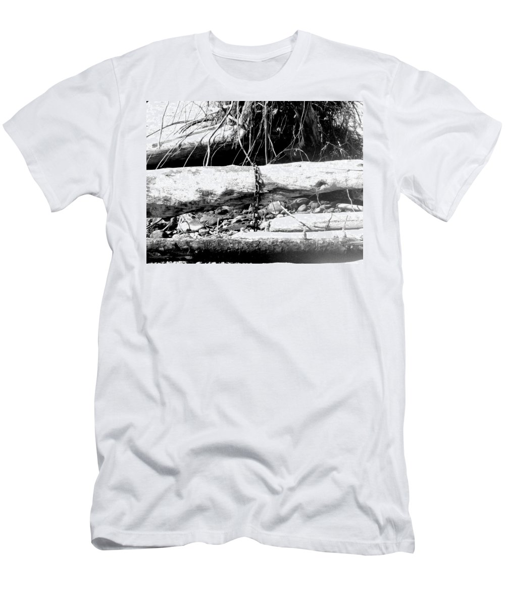 Black And White Men's T-Shirt (Athletic Fit) featuring the photograph Lost In Time by Joel Walling