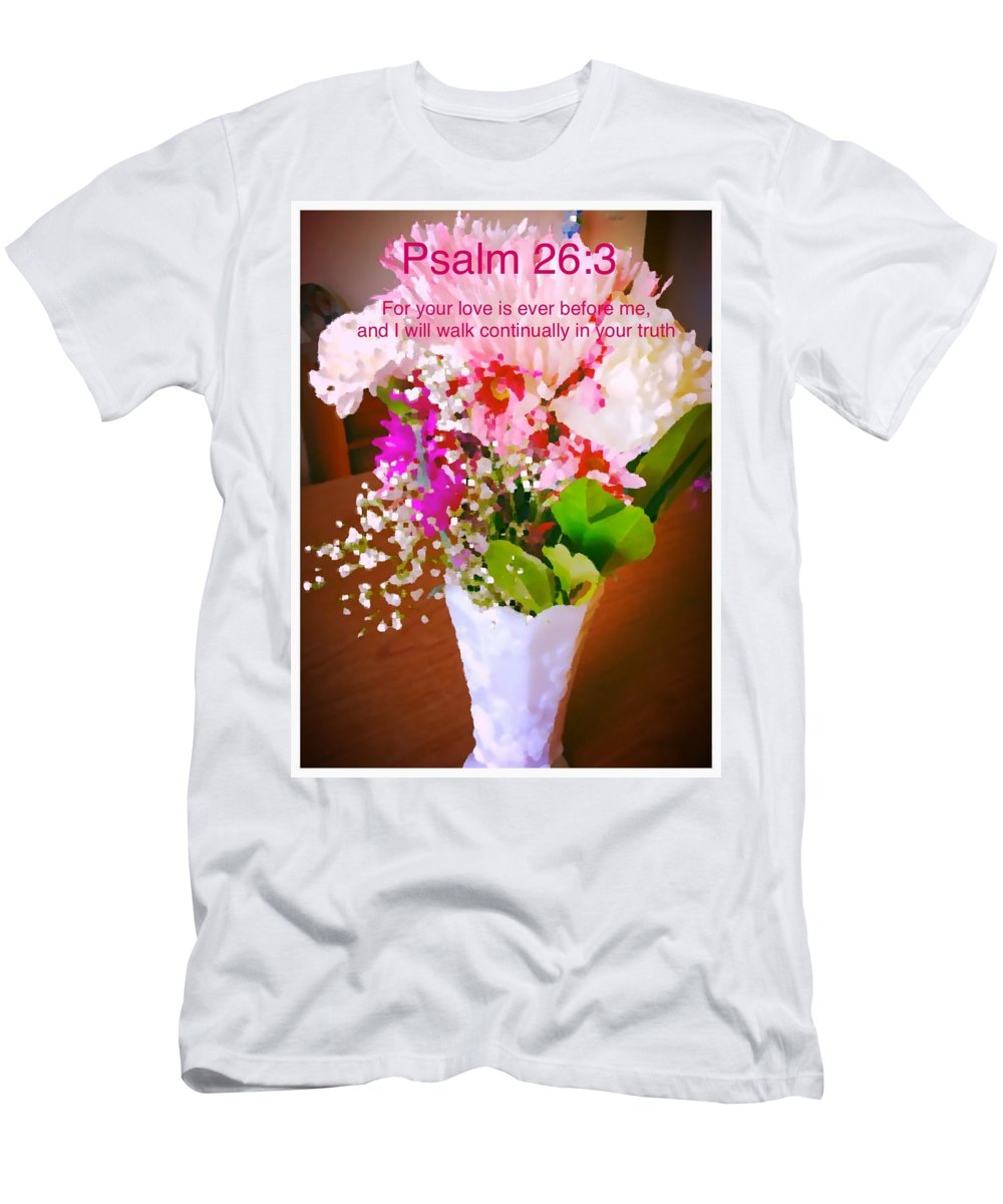 Psalm-26:3 Men's T-Shirt (Athletic Fit) featuring the photograph Love by Debra Lynch