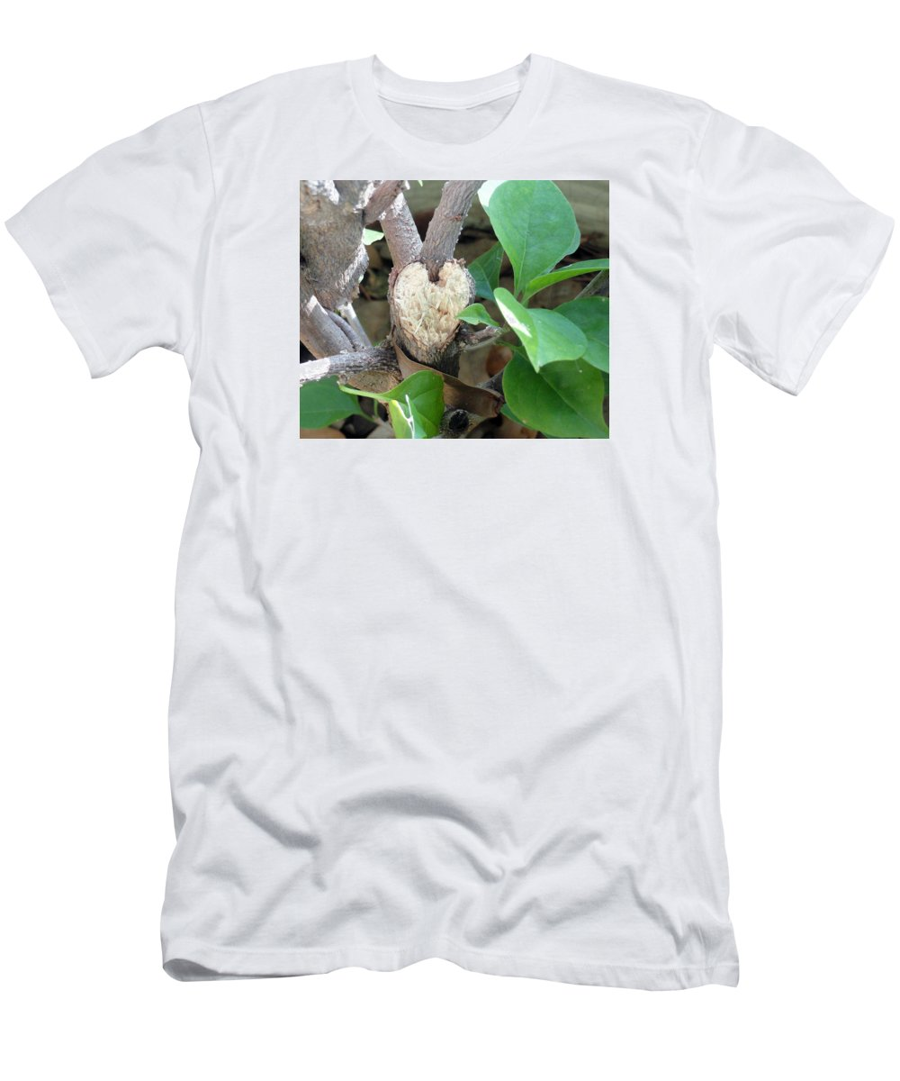 Valentines From God Men's T-Shirt (Athletic Fit) featuring the photograph Love Revealed by Libba Maddry