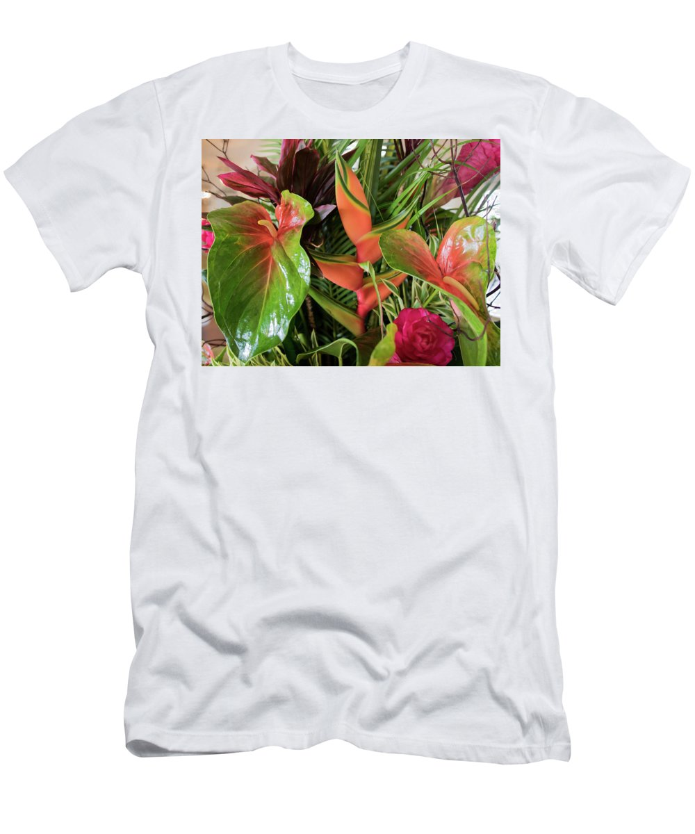 Leaves Men's T-Shirt (Athletic Fit) featuring the photograph Lovely Leaves by John Boston