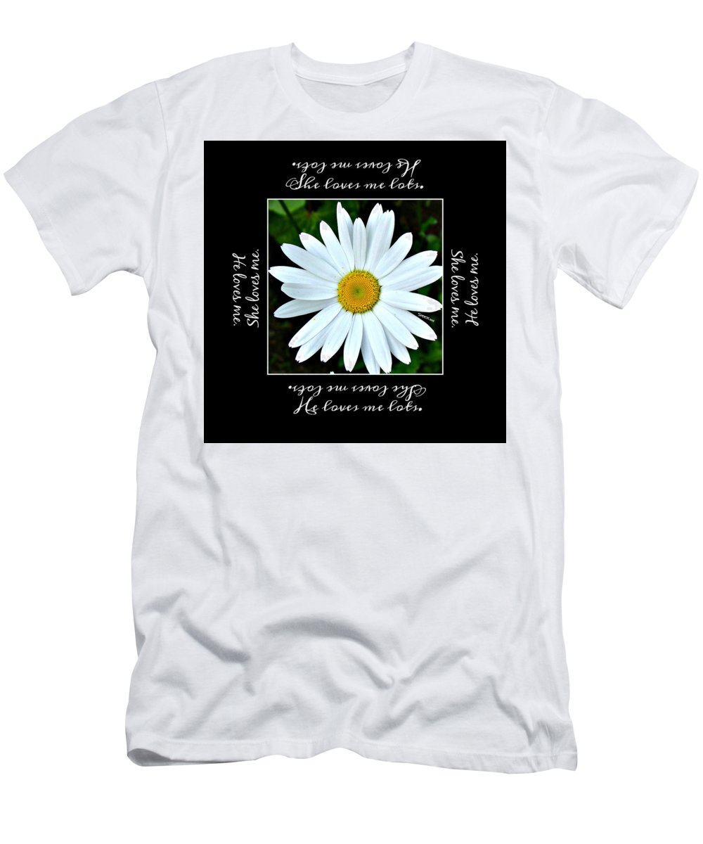 Loves Me Loves Me Lots Men's T-Shirt (Athletic Fit) featuring the digital art Loves Me Loves Me Lots by Christine Nichols