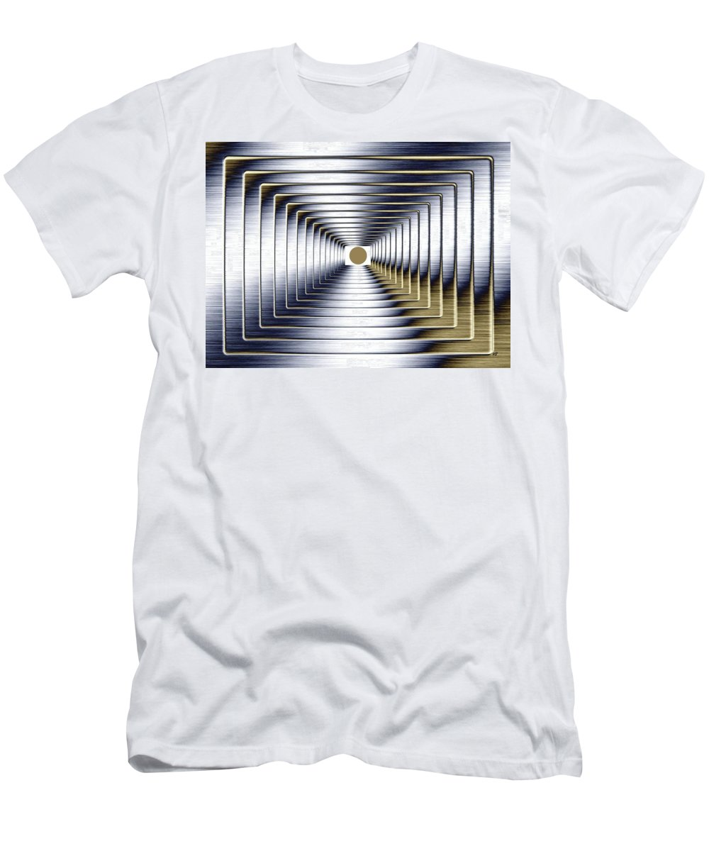 Abstract Men's T-Shirt (Athletic Fit) featuring the digital art Luminous Energy 1 by Will Borden