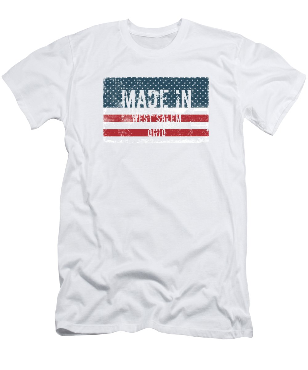 West Salem Men's T-Shirt (Athletic Fit) featuring the digital art Made In West Salem, Ohio by Tinto Designs
