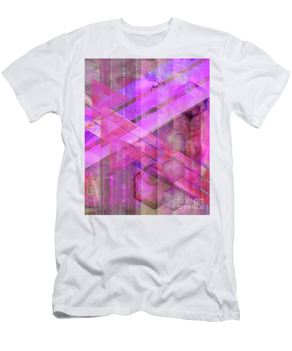 Magenta Haze Men's T-Shirt (Athletic Fit) featuring the digital art Magenta Haze by John Beck