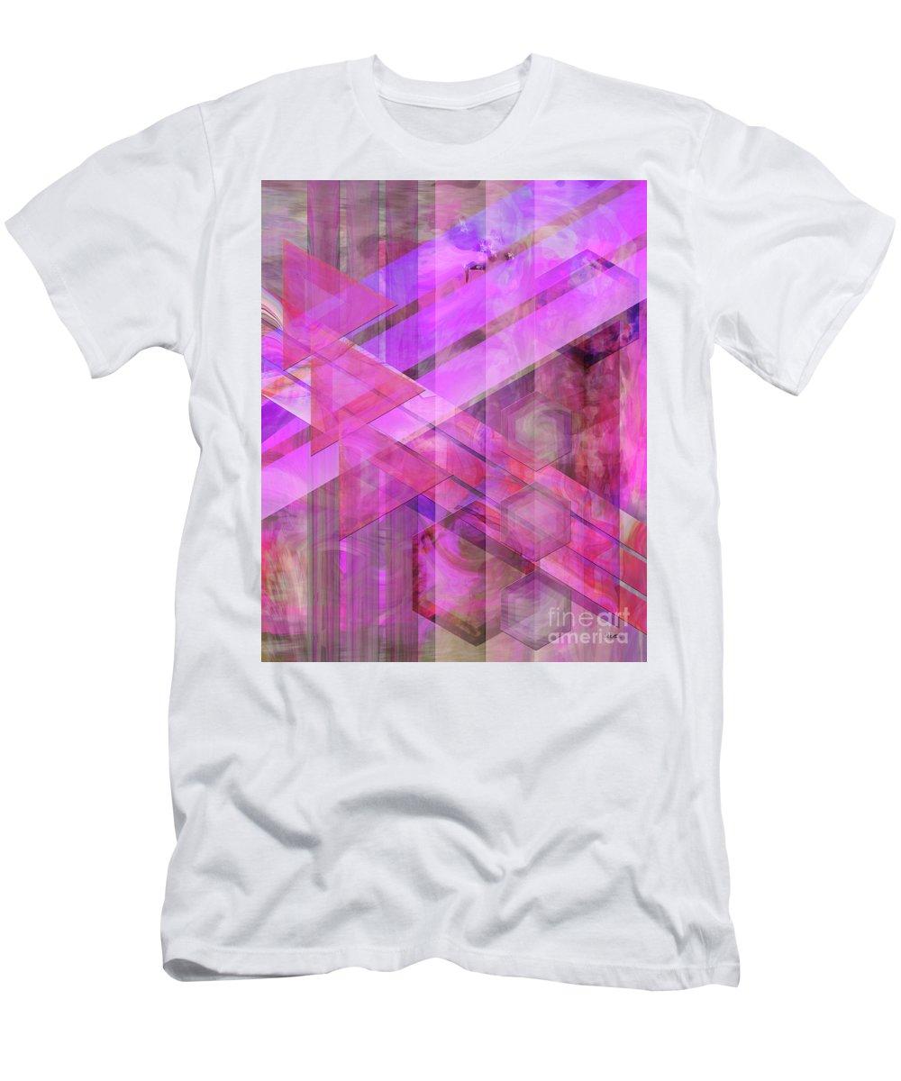 Magenta Haze Men's T-Shirt (Athletic Fit) featuring the digital art Magenta Haze by John Beck