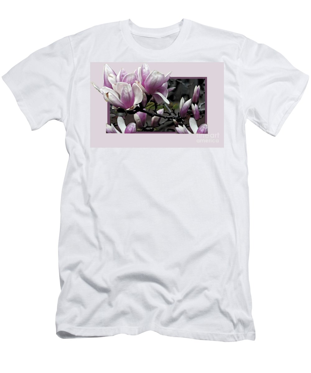 Magnolia Men's T-Shirt (Athletic Fit) featuring the photograph Magnolia Fantasy II by Madeline Ellis