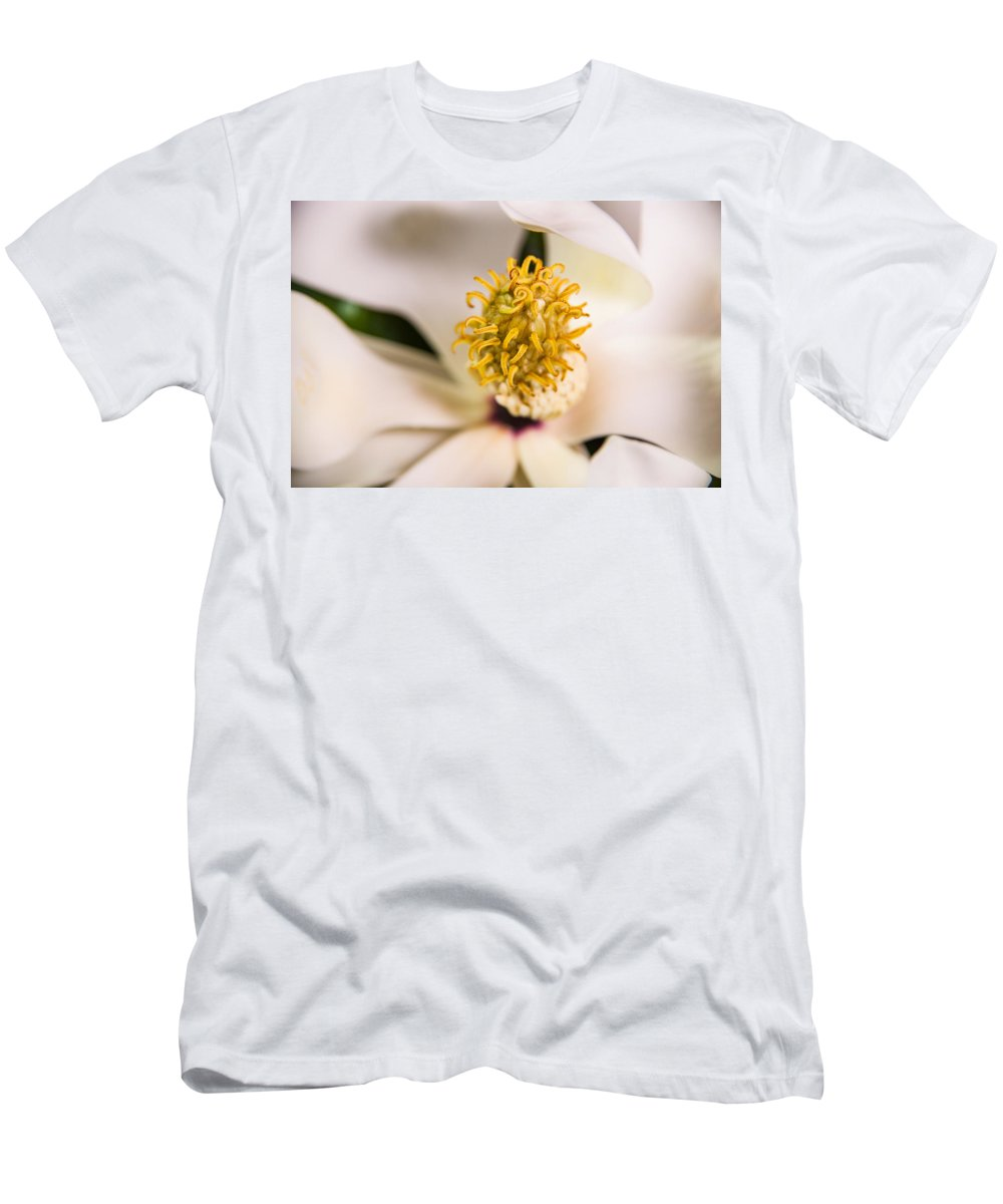 Magnolia Men's T-Shirt (Athletic Fit) featuring the photograph Magnolia Study by Bonnie Marquette