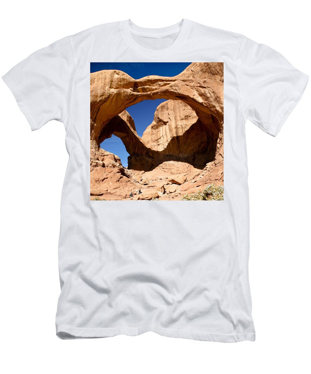 Americana Men's T-Shirt (Athletic Fit) featuring the photograph Many Arches by Marilyn Hunt