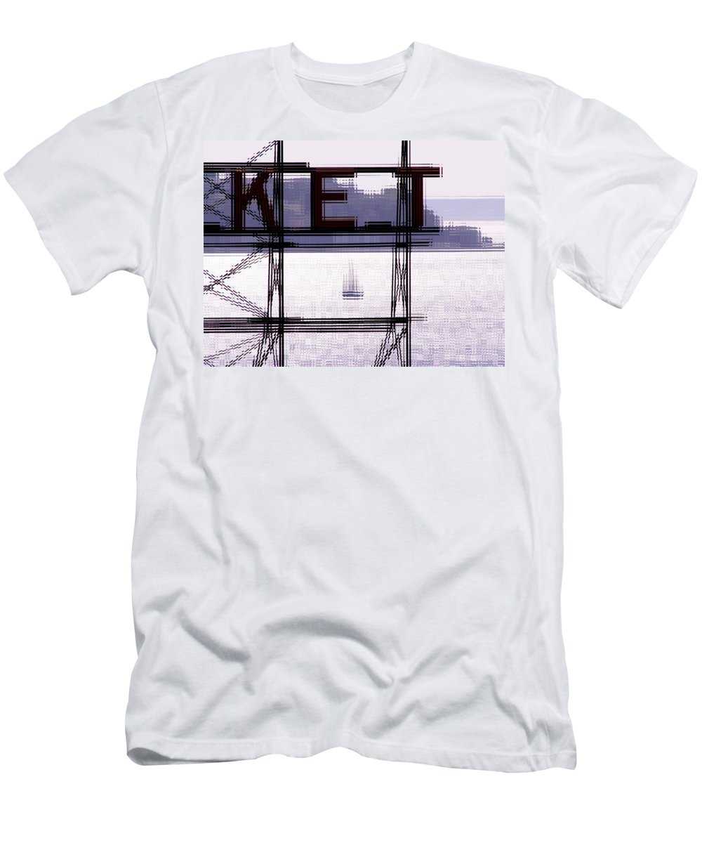 Seattle Men's T-Shirt (Athletic Fit) featuring the digital art Market Sail by Tim Allen