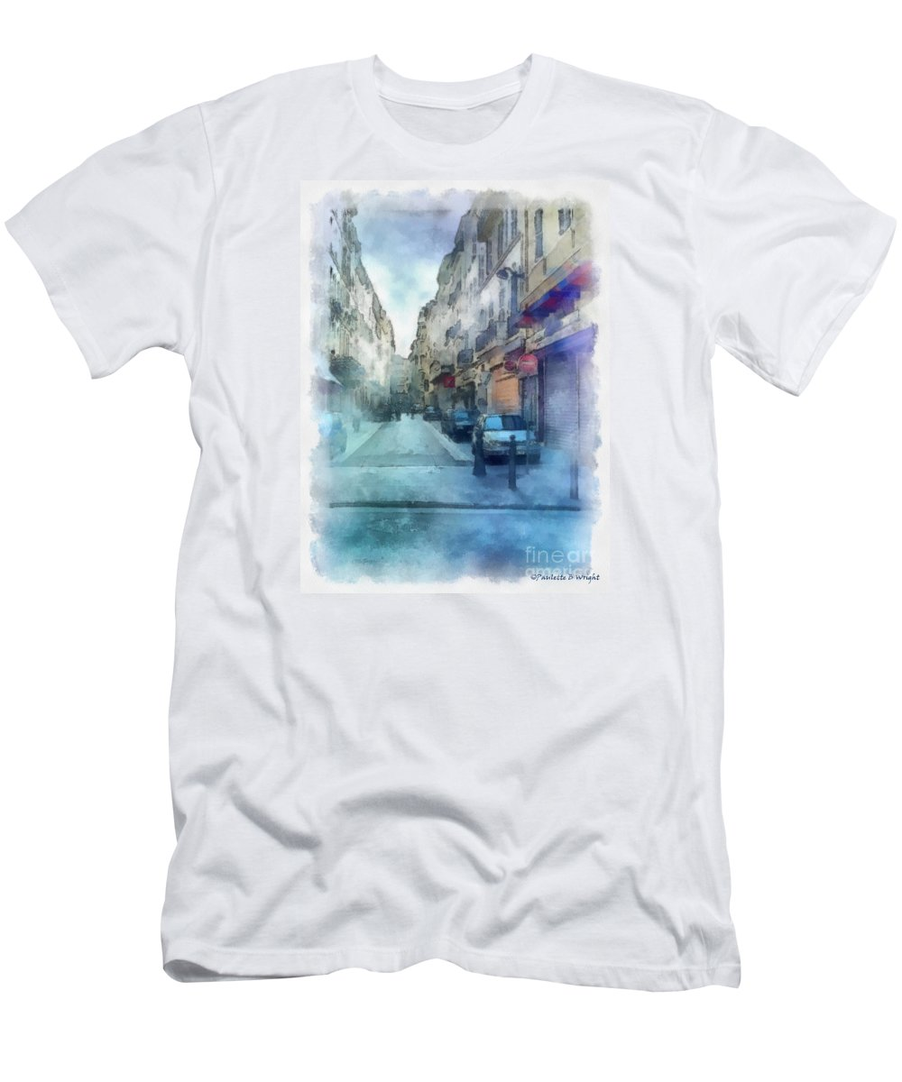Marseille Men's T-Shirt (Athletic Fit) featuring the photograph Marseille Back Street by Paulette B Wright