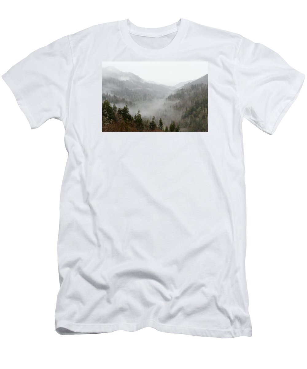 Clouds Men's T-Shirt (Athletic Fit) featuring the photograph Marvelous Mist by Kristina Plaas