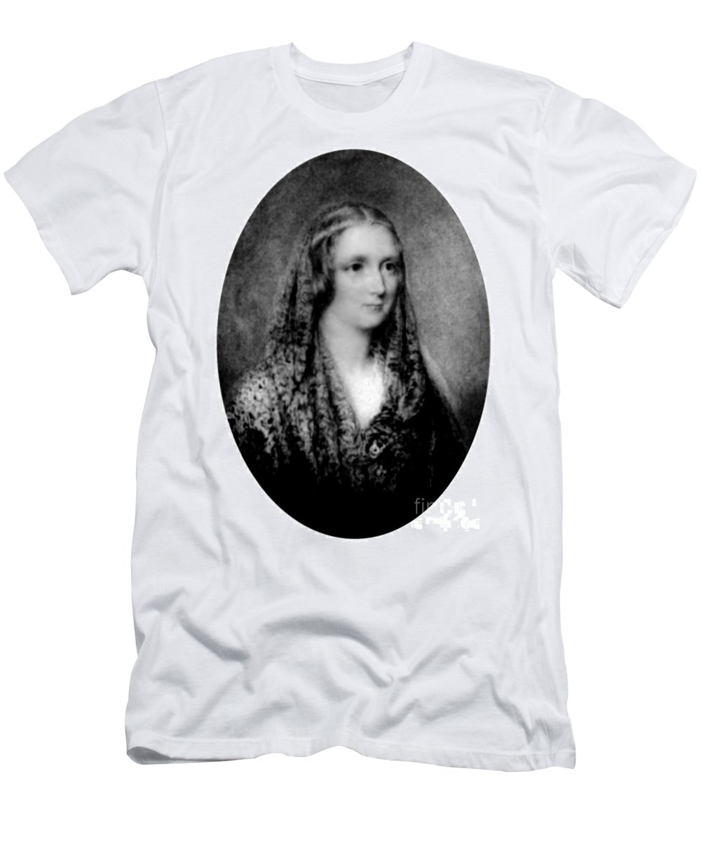 Literature Men's T-Shirt (Athletic Fit) featuring the photograph Mary Shelley, English Author by Science Source