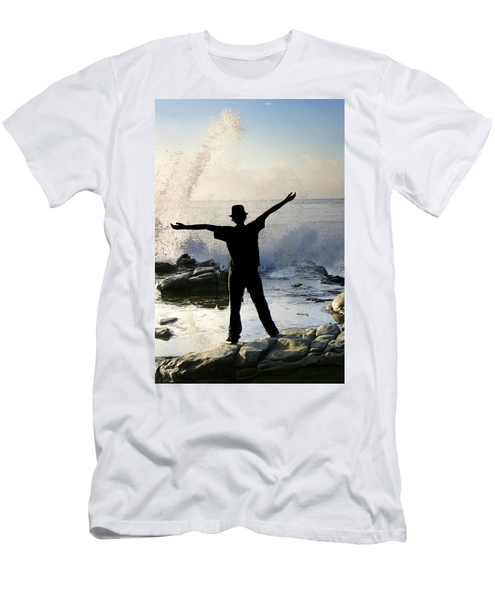 Ocean Men's T-Shirt (Athletic Fit) featuring the photograph Master Of The Ocean by Anthony Jones