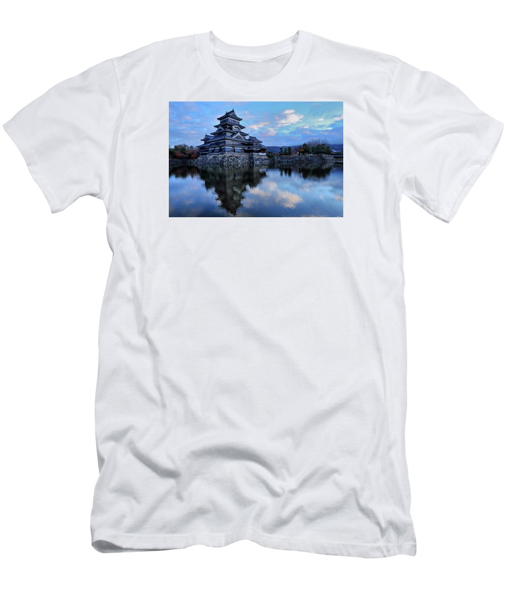 Japan Men's T-Shirt (Athletic Fit) featuring the photograph Matsumoto Castle 1182 by Alex Sharp