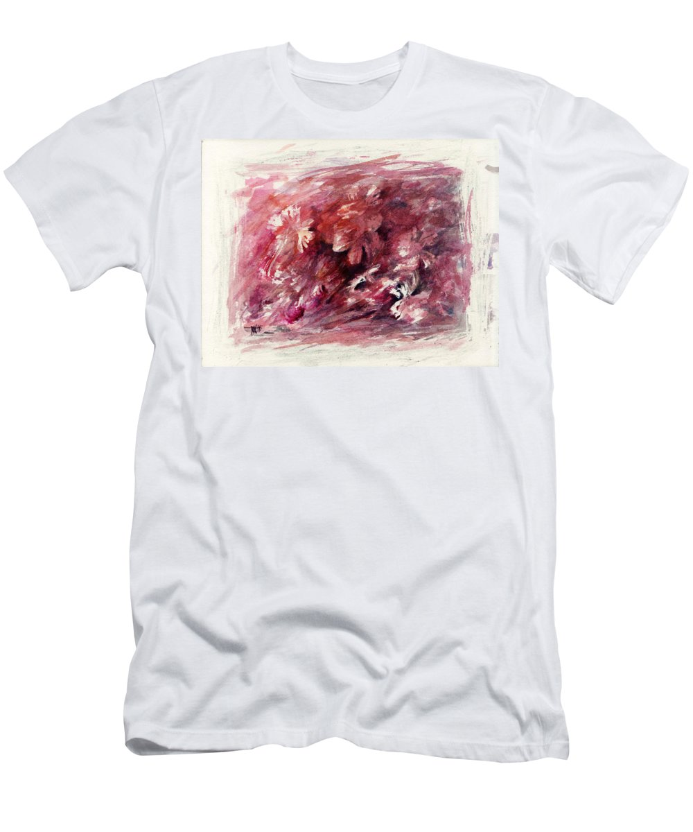 Floral Men's T-Shirt (Athletic Fit) featuring the painting Melancholic Moment by Rachel Christine Nowicki