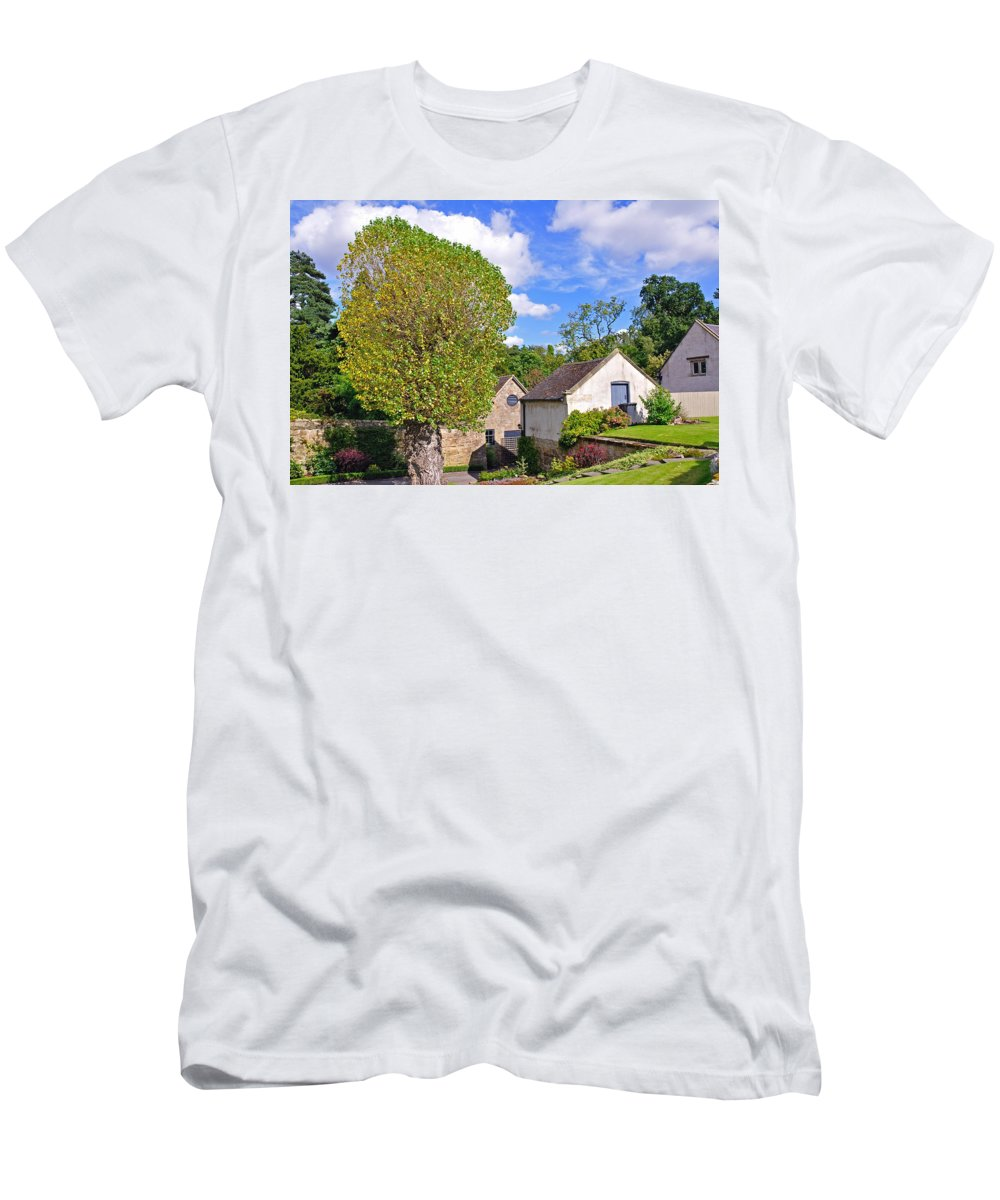Landscape Men's T-Shirt (Athletic Fit) featuring the photograph Melbourne Hall Mill - Derbyshire by Rod Johnson