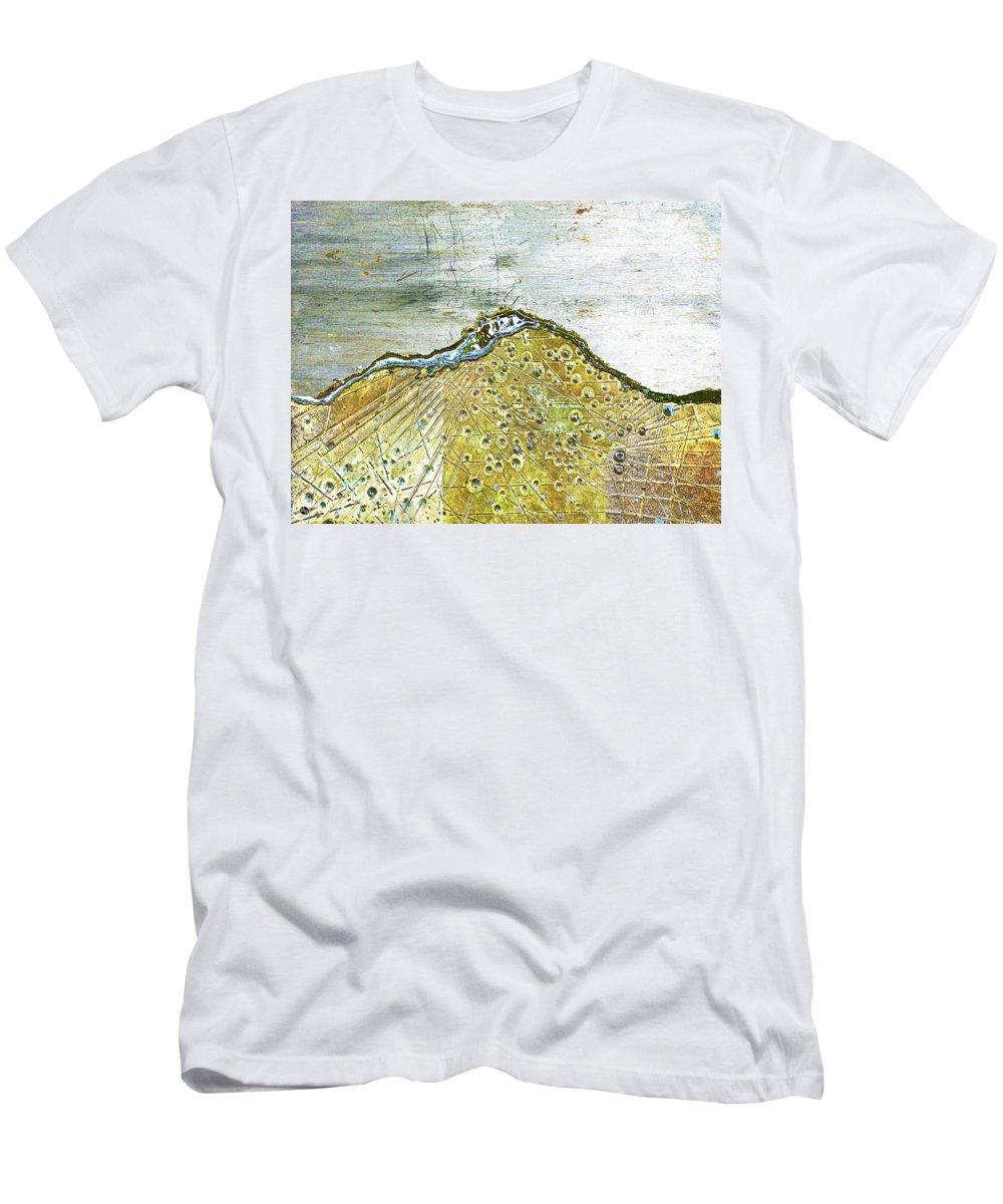 Depth Men's T-Shirt (Athletic Fit) featuring the mixed media Mercury by Tony Rubino