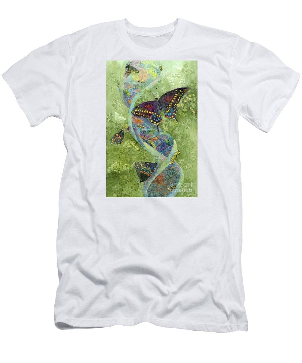 Nancy Charbeneau Men's T-Shirt (Athletic Fit) featuring the painting Metamorphosis by Nancy Charbeneau