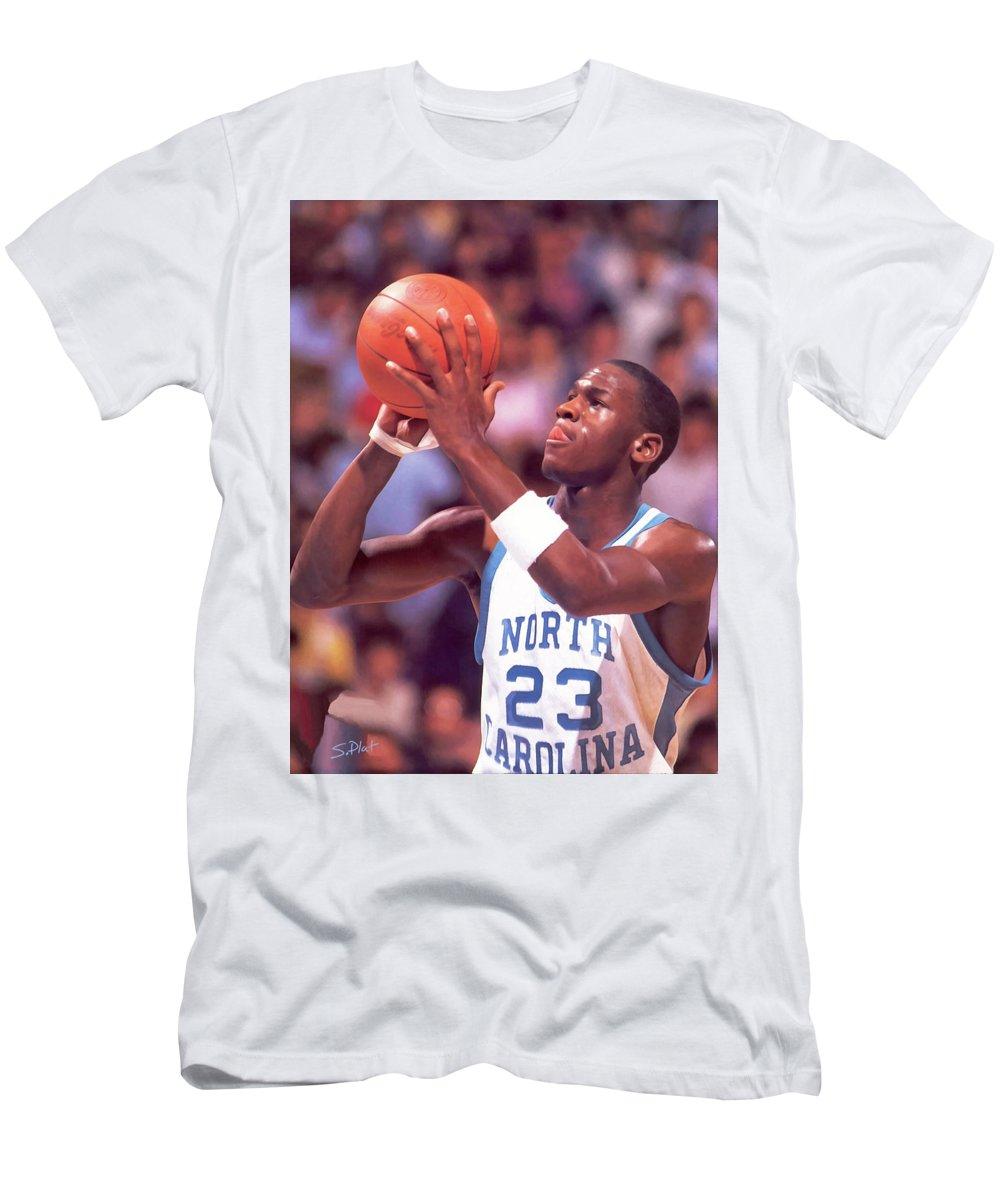 d111e3de7f8e Michael Jordan North Carolina Tar Heels T-Shirt for Sale by Sebastian Plat